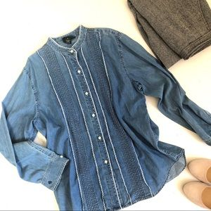 Vintage Denim RL Ralph Lauren Shirt Blouse 12